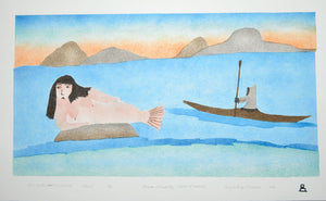 Seal Hunter Saw a Mermaid by Elisapee Ishulutaq inuit art