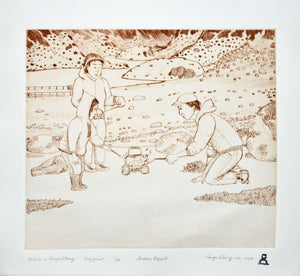 Picnic in Pangnirtung by Andrew Qappik inuit art