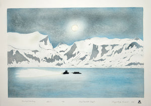 Moonlight Over Pang by Annie Naulali inuit art