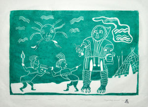 Successful Hunt by Piona Keyuakjuk inuit art