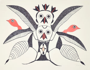 Birds, drawing by Meelia Kelly