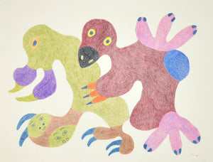 Creatures, drawing by Meelia Kelly
