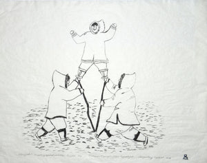 Piliujjartut (Competing Against Each Other) by Mathewsie Maniapik inuit art
