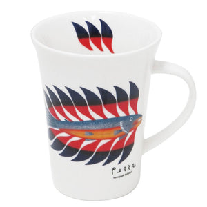 Kenojuak Ashevak Luminous Char Porcelain Mug