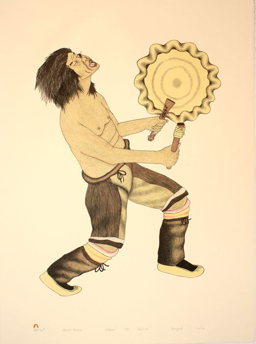 EXHAUSTED DRUMMER by Kananginak Pootoogook