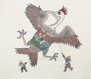 Catching the bird by Cee Pootoogook