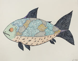 Fish by Cee Pootoogook