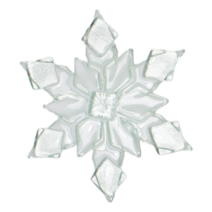 Snowflake glass sun catcher by Nancy Legassicke