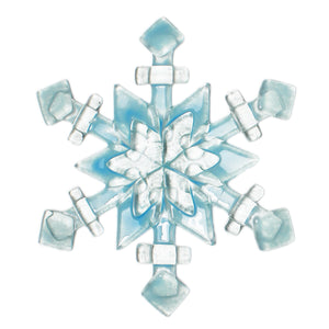 Blue Snowflake glass sun catcher by Nancy Legassicke