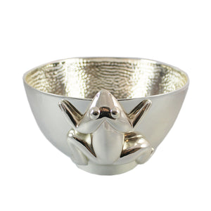 Silver Plated Frog Bowl by COREY BULPITT