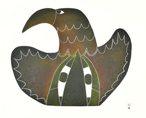 Noctural Presence by Pudlo Pudlat inuit art