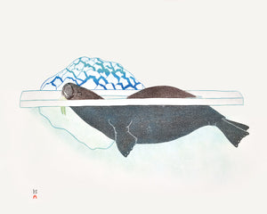 Walrus in Pressure Ice by Kananginak Pootoogook