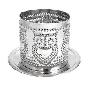 Tealight Tin Punched Shade Owl