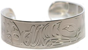 "3/4"" SILVER BRACELET - FROG EAGLE BY TERRY STARR"
