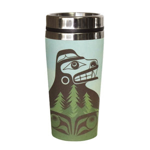 Bamboo Travel Mug - Bear The Tree Hugger by Allan Weir