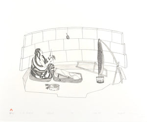 AT THE WINDBREAK by Kananginak Pootoogook