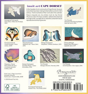 INUIT ART: CAPE DORSET 2020 MINI WALL CALENDAR