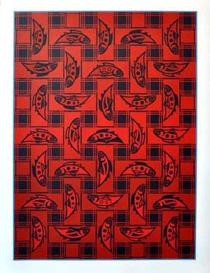 Salmon Blanket Design (Signature Print) by Susan Point