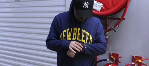 New Breed Navy Hoodie