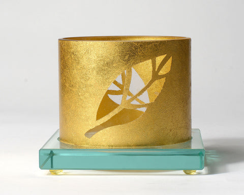 Gold Leaf Votive Holder