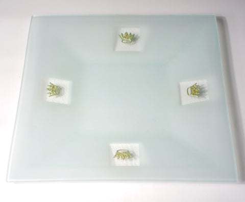 Silver Crown Serving Tray