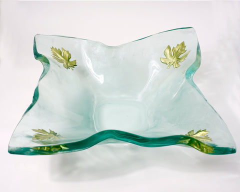 Gold Leaf Kerchief Bowl -SOLD-