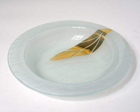 Gold Printed Leaf Soup Bowl