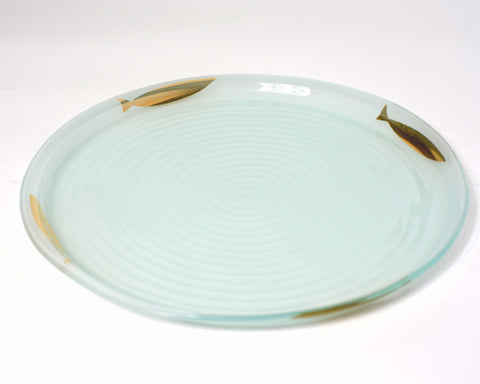 Gold Printed Fish Serving Tray