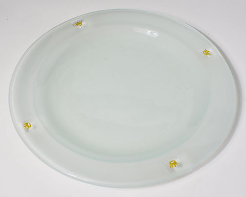 Gold Crown Charm Salad Plate