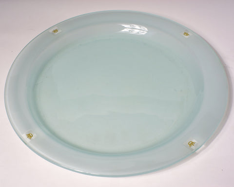 Gold Crown Charm Dinner Plate