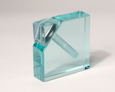 Clear Corner Cut Perfume Bottle
