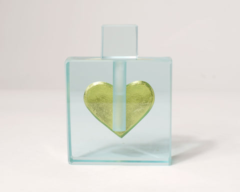 Gold Heart Perfume Bottle --Sold--