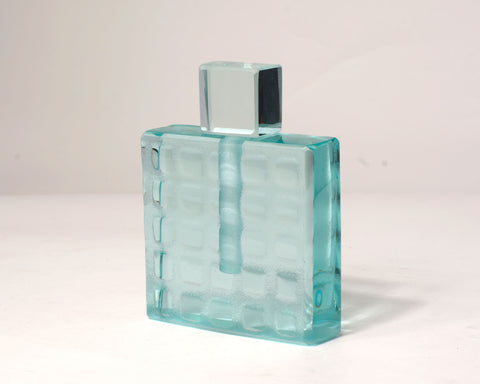Clear Grid Perfume Bottle