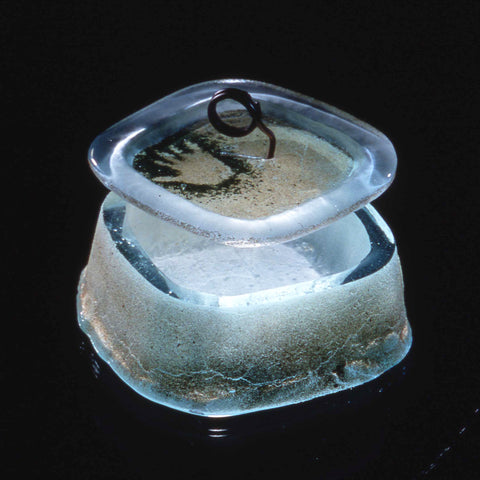 Sand-cast Glass Box with Lid
