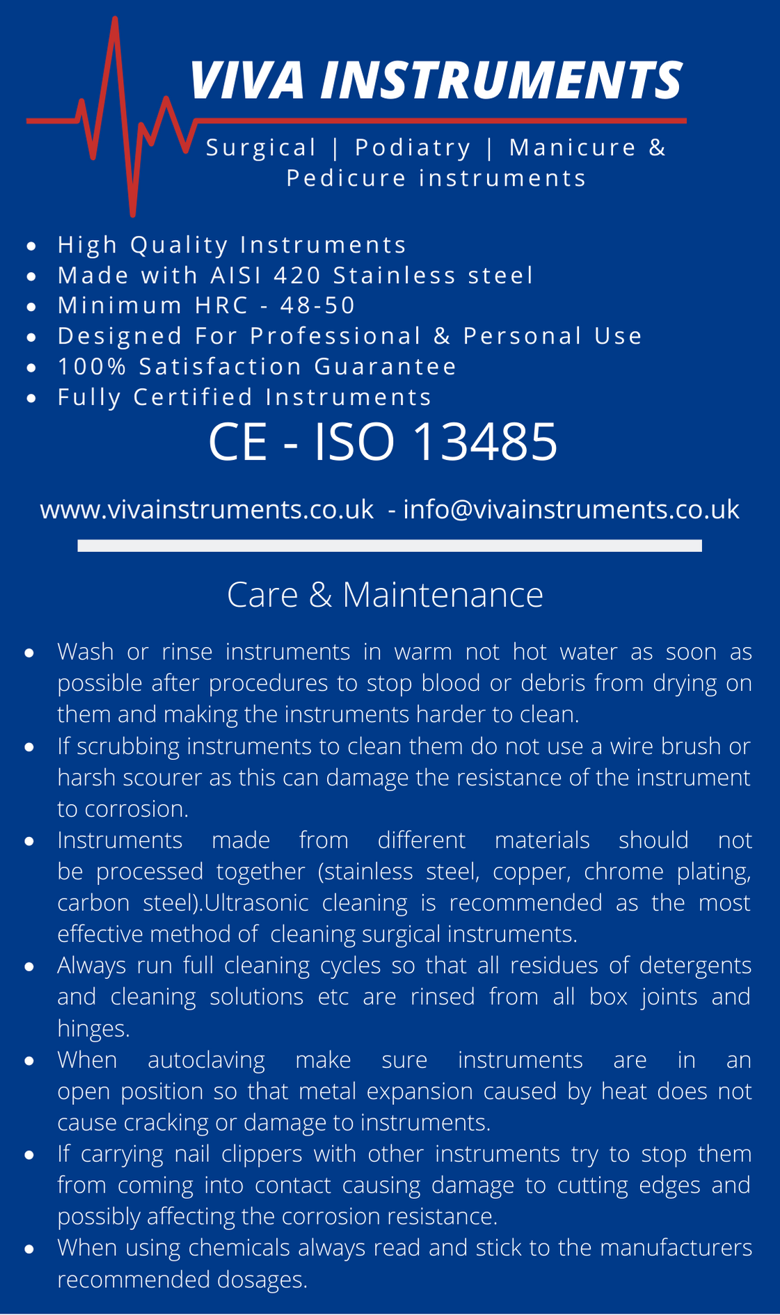 Cleaning & Maintenance of surgical instruments