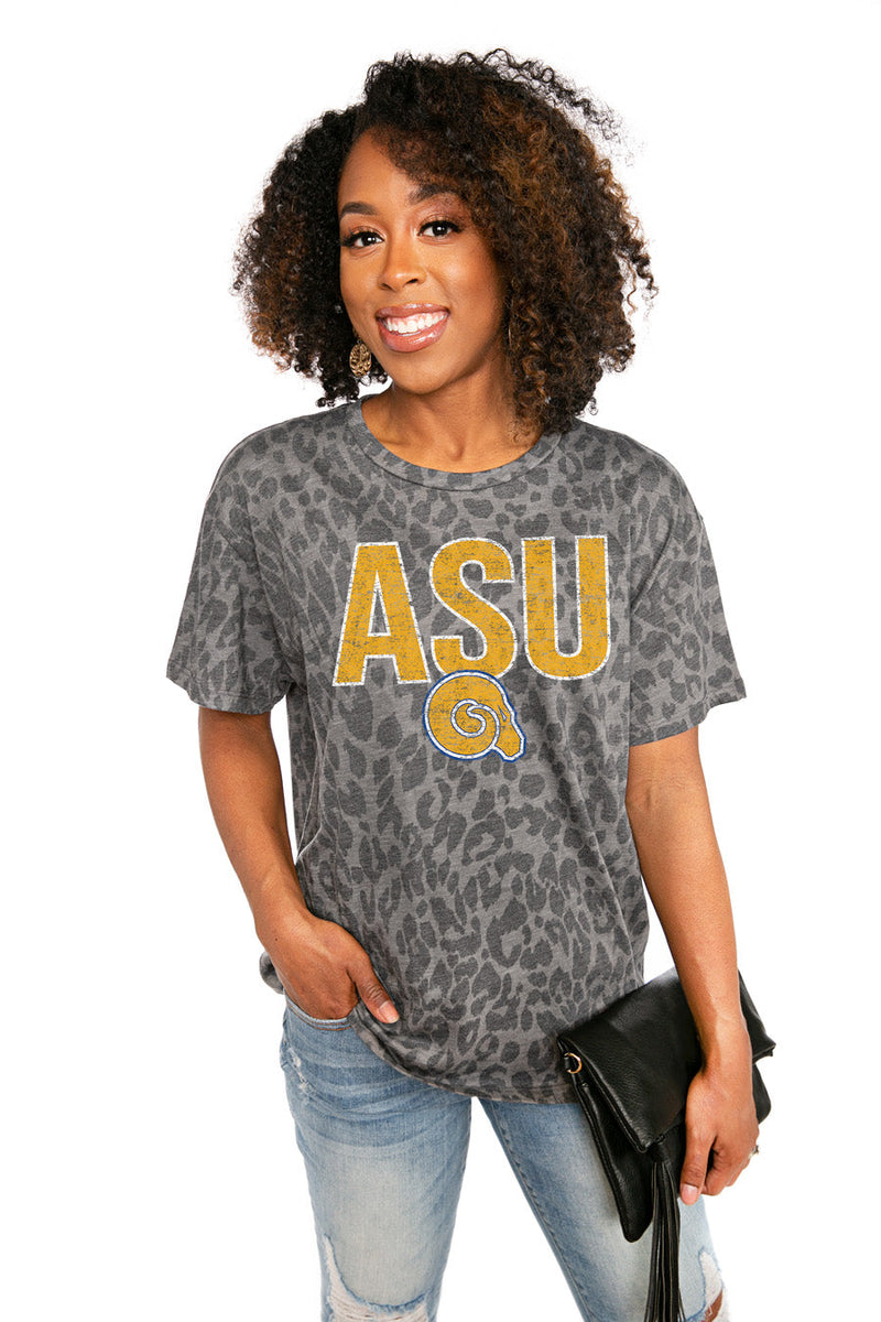 "ALBANY STATE GOLDEN RAMS  ""HEADS UP"" Oversized Crewneck Slouchy Fit Tee"