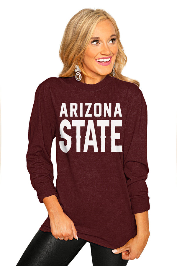 "ARIZONA STATE SUN DEVILS ""GO FOR IT"" Luxe Boyfriend Crew"