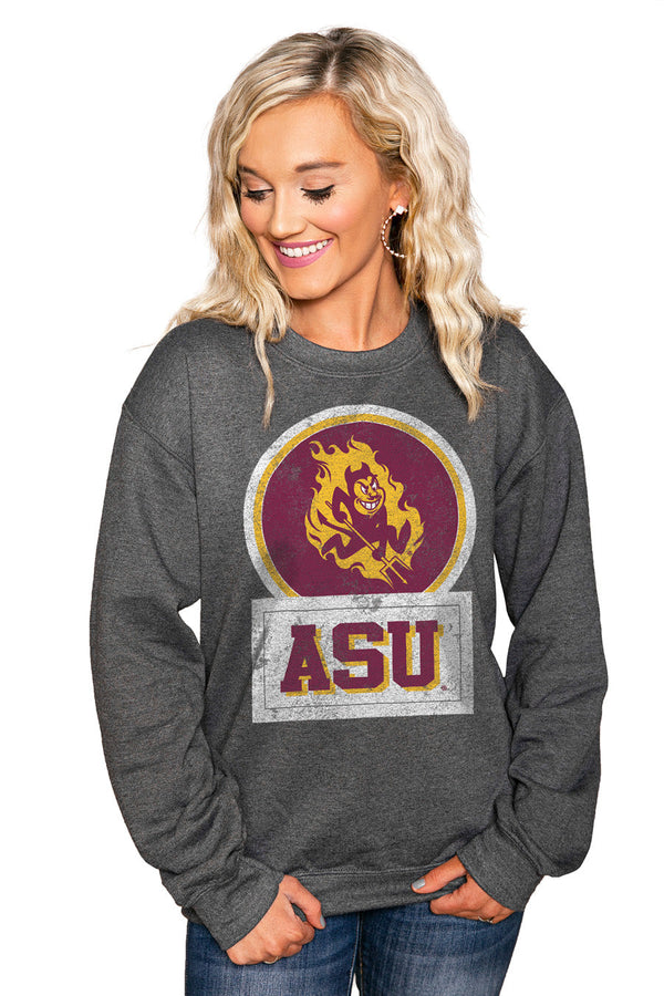 "ARIZONA STATE SUN DEVILS ""GOOD VIBES"" Perfect Crew Sweatshirt"