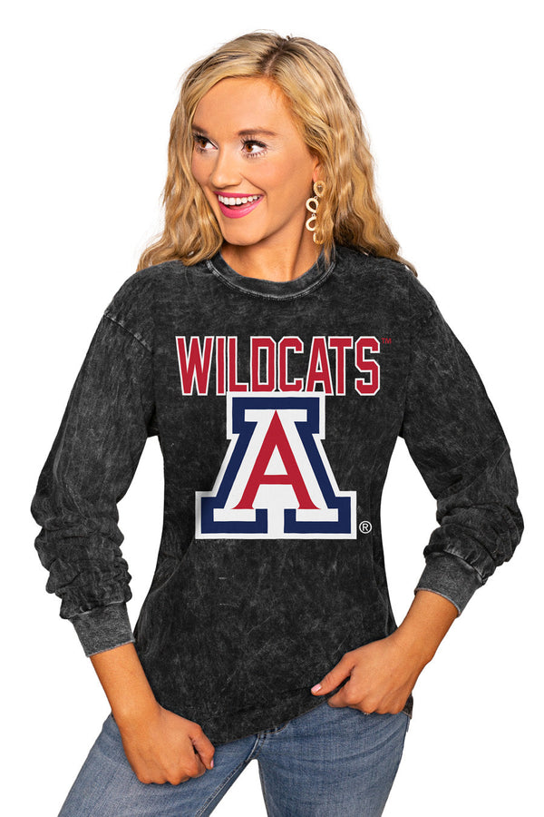 "ARIZONA WILDCATS ""FOURTH DOWN"" RETRO MINERAL WASH CREW"