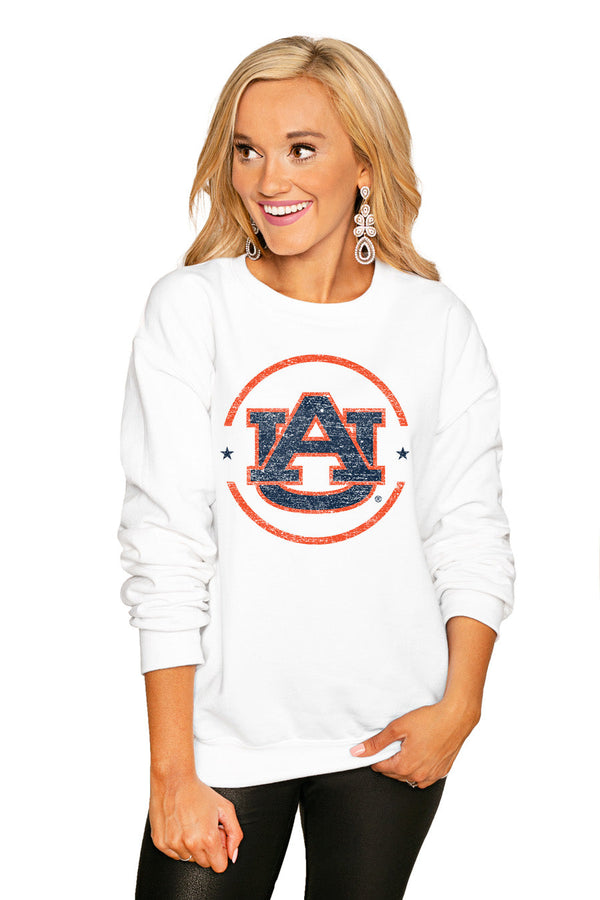 "AUBURN TIGERS ""END ZONE"" PERFECT COZY CREW SWEATSHIRT"