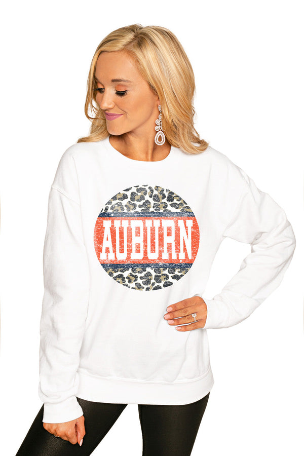 "AUBURN TIGERS ""SCOOP & SCORE"" PERFECT COZY CREW SWEATSHIRT"