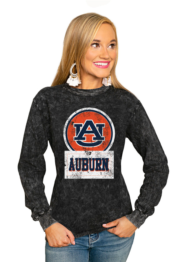 "AUBURN TIGERS ""GOOD VIBES"" RETRO MINERAL WASH CREW"