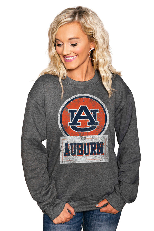 "AUBURN TIGERS ""GOOD VIBES"" Perfect Crew Sweatshirt"