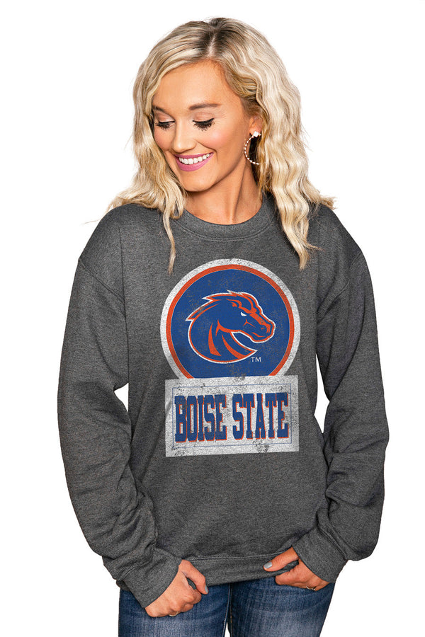 "BOISE STATE BRONCOS ""GOOD VIBES"" Perfect Crew Sweatshirt"