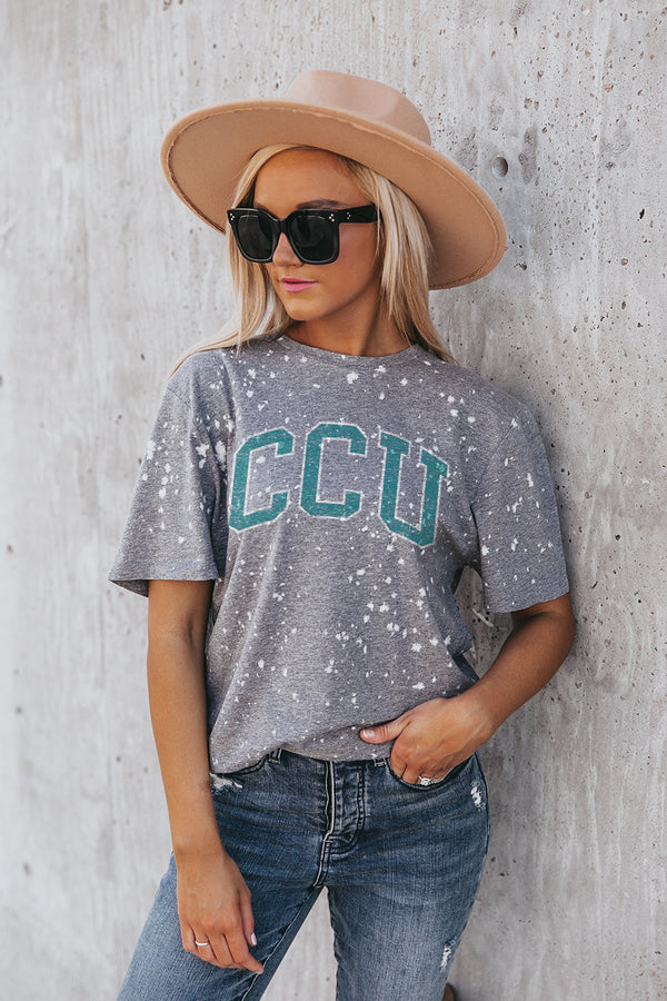 "COASTAL CAROLINA CHANTICLEERS ""BETTER TIMES"" Bleached Splash-Dyed Tee"