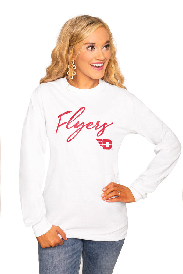 "DAYTON FLYERS ""WIN THE DAY"" Luxe Boyfriend Crew"