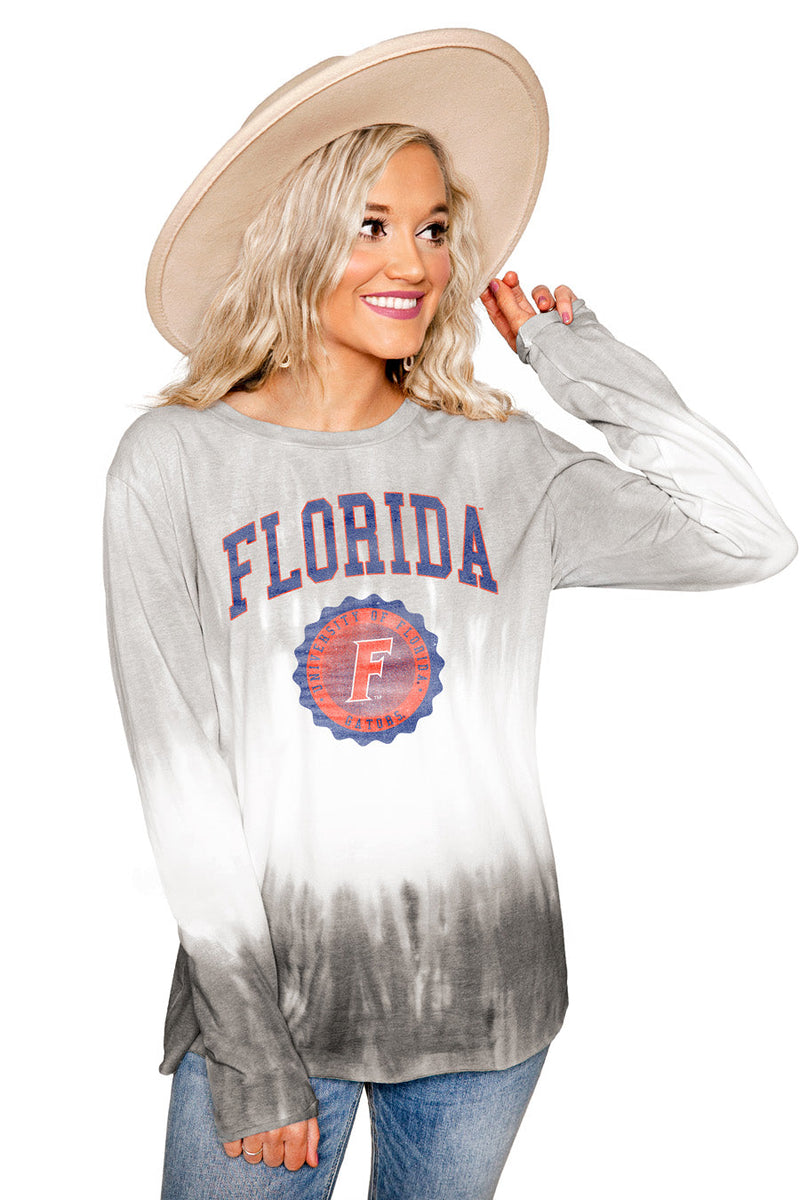 "FLORIDA GATORS ""HIGH LINE"" Tiered Dip-Dye Cotton Long Sleeve Tee"