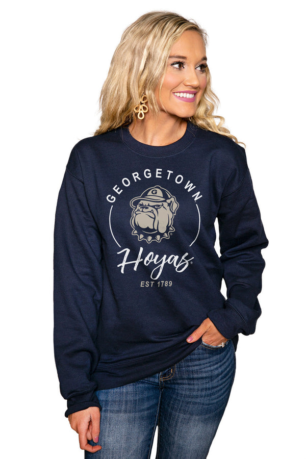 "GEORGETOWN HOYAS ""FOR THE HOME TEAM"" Perfect Crew Sweatshirt"