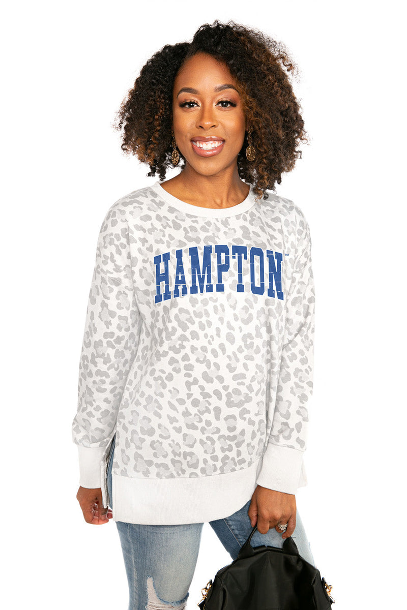 "HAMPTON PIRATES ""DAY OFF"" Crew Neck Side-Slit French Terry Pullover"
