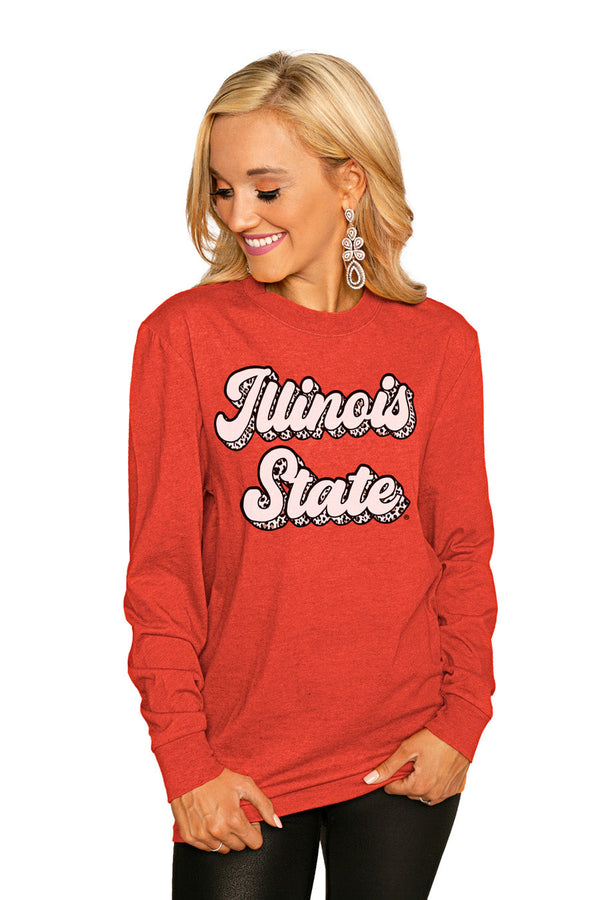 "ILLINOIS STATE REDBIRDS""GAME PLAN"" Luxe Boyfriend Crew"
